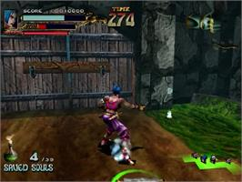 In game image of Soul Fighter on the Sega Dreamcast.