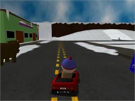 In game image of South Park Rally on the Sega Dreamcast.
