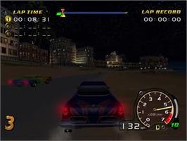 In game image of Speed Devils on the Sega Dreamcast.