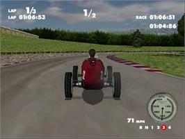 In game image of Spirit of Speed 1937 on the Sega Dreamcast.