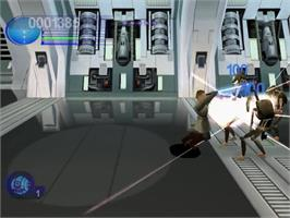In game image of Star Wars: Episode I - Jedi Power Battles on the Sega Dreamcast.