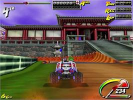 In game image of Stunt GP on the Sega Dreamcast.