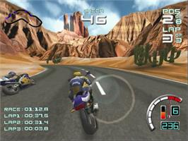 In game image of Suzuki ALSTARE Extreme Racing on the Sega Dreamcast.