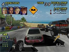 In game image of TNN Motorsports Hardcore Heat on the Sega Dreamcast.