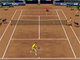 In game image of Tennis 2K2 on the Sega Dreamcast.