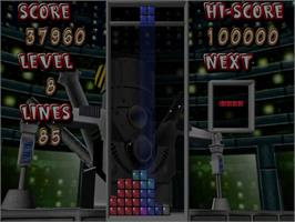 In game image of Tetris 4D on the Sega Dreamcast.