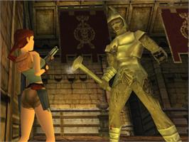 In game image of Tomb Raider: Chronicles on the Sega Dreamcast.
