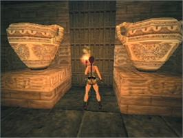 In game image of Tomb Raider: The Last Revelation on the Sega Dreamcast.