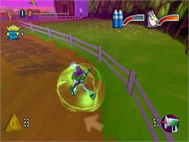 In game image of Toy Story 2: Buzz Lightyear of Star Command on the Sega Dreamcast.