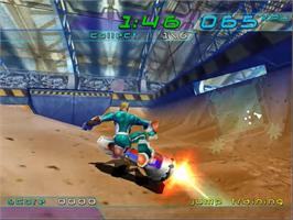 In game image of Trickstyle on the Sega Dreamcast.