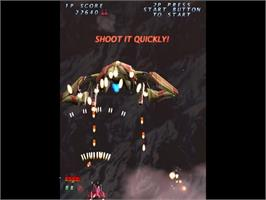In game image of Trizeal on the Sega Dreamcast.