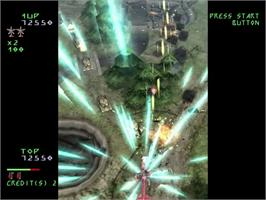 In game image of Under Defeat on the Sega Dreamcast.