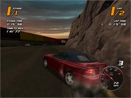 In game image of Vanishing Point on the Sega Dreamcast.