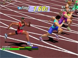 In game image of Virtua Athlete 2K on the Sega Dreamcast.