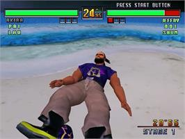 In game image of Virtua Fighter 3 on the Sega Dreamcast.