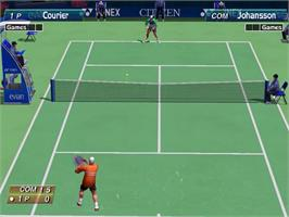 In game image of Virtua Tennis on the Sega Dreamcast.