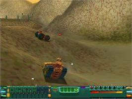 In game image of Wild Metal on the Sega Dreamcast.
