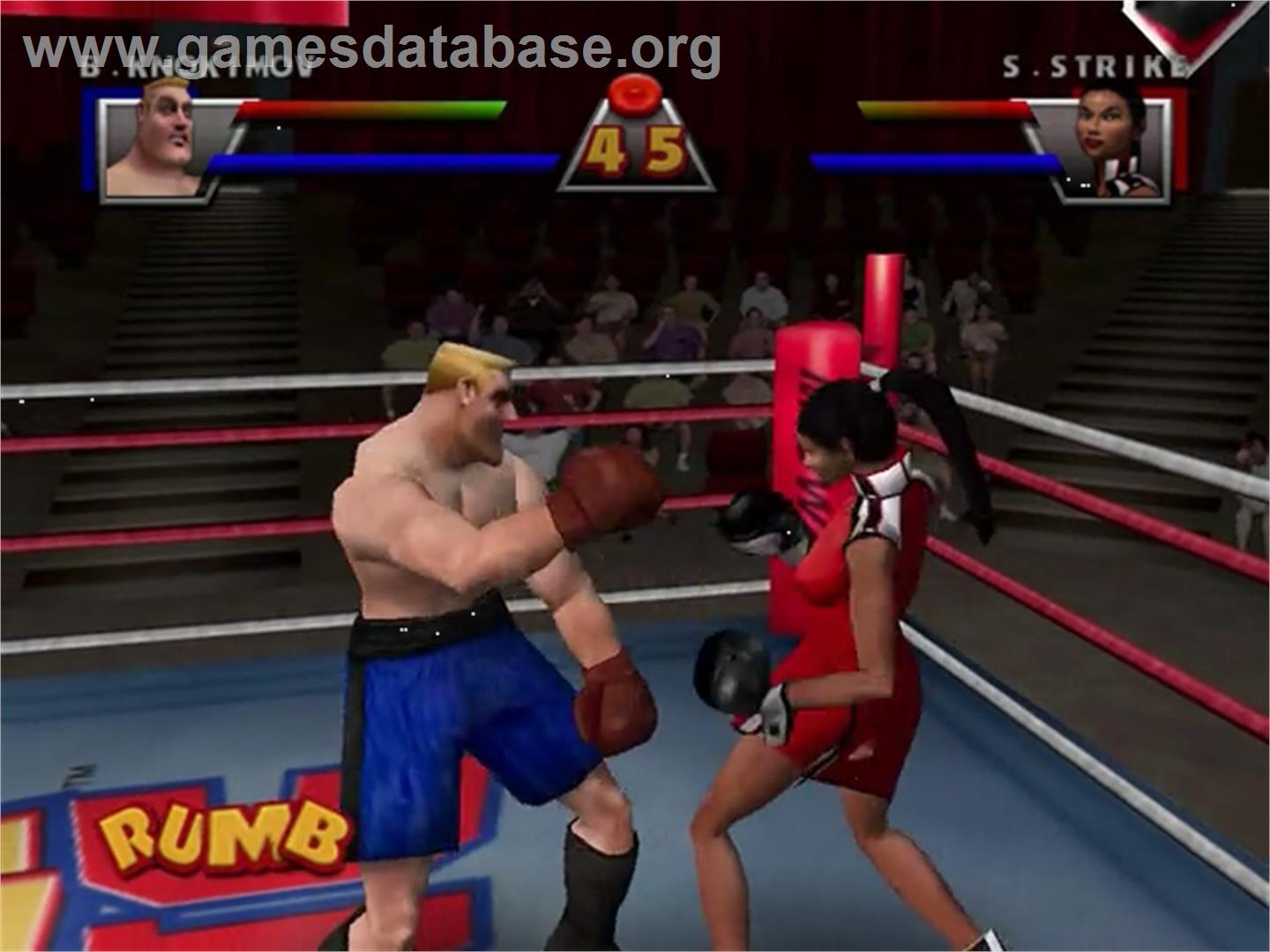 In game image of Ready 2 Rumble Boxing: Round 2 on the Sega Dreamcast.