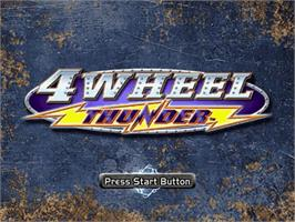 Title screen of 4 Wheel Thunder on the Sega Dreamcast.