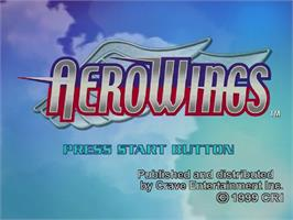 Title screen of Aerowings on the Sega Dreamcast.
