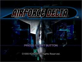 Title screen of Airforce Delta on the Sega Dreamcast.