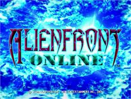 Title screen of Alien Front Online on the Sega Dreamcast.