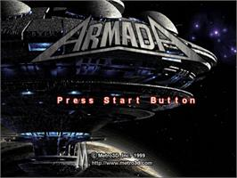 Title screen of Armada on the Sega Dreamcast.