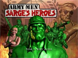 Title screen of Army Men: Sarge's Heroes on the Sega Dreamcast.