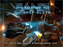 Title screen of BANG! Gunship Elite on the Sega Dreamcast.