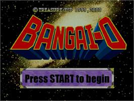 Title screen of Bangai-O on the Sega Dreamcast.