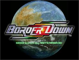 Title screen of Border Down on the Sega Dreamcast.