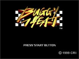 Title screen of Buggy Heat on the Sega Dreamcast.