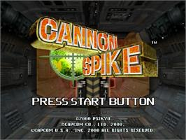 Title screen of Cannon Spike on the Sega Dreamcast.