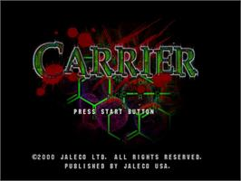 Title screen of Carrier on the Sega Dreamcast.