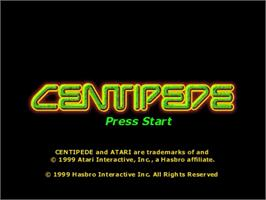 Title screen of Centipede on the Sega Dreamcast.