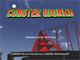 Title screen of Coaster Works on the Sega Dreamcast.