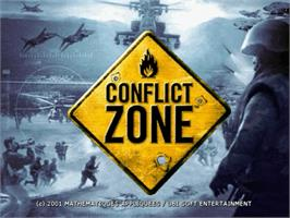 Title screen of Conflict Zone: Modern War Strategy on the Sega Dreamcast.
