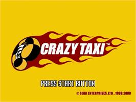 Title screen of Crazy Taxi on the Sega Dreamcast.