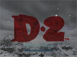 Title screen of D2 on the Sega Dreamcast.