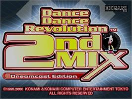 Title screen of Dance Dance Revolution 2nd Mix on the Sega Dreamcast.