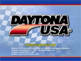 Title screen of Daytona USA on the Sega Dreamcast.