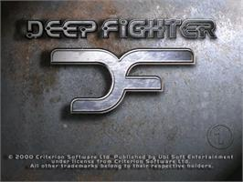 Title screen of Deep Fighter on the Sega Dreamcast.