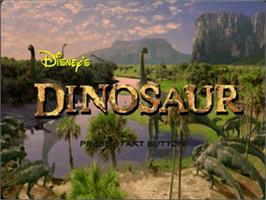 Title screen of Dinosaur on the Sega Dreamcast.