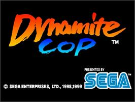 Title screen of Dynamite Cop on the Sega Dreamcast.