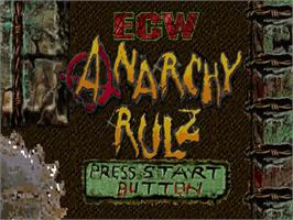 Title screen of ECW Anarchy Rulz on the Sega Dreamcast.