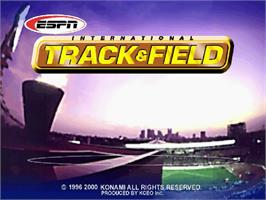 Title screen of ESPN International Track & Field on the Sega Dreamcast.