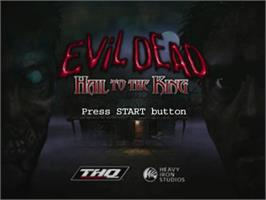 Title screen of Evil Dead: Hail to the King on the Sega Dreamcast.