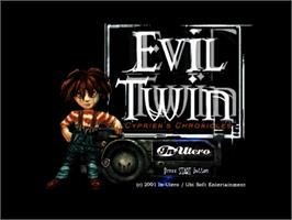 Title screen of Evil Twin: Cyprien's Chronicles on the Sega Dreamcast.