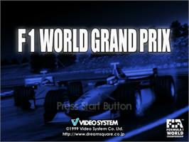 Title screen of F1 World Grand Prix on the Sega Dreamcast.