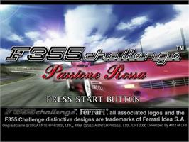Title screen of F355 Challenge on the Sega Dreamcast.